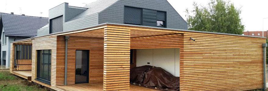 extension en ossature de bois
